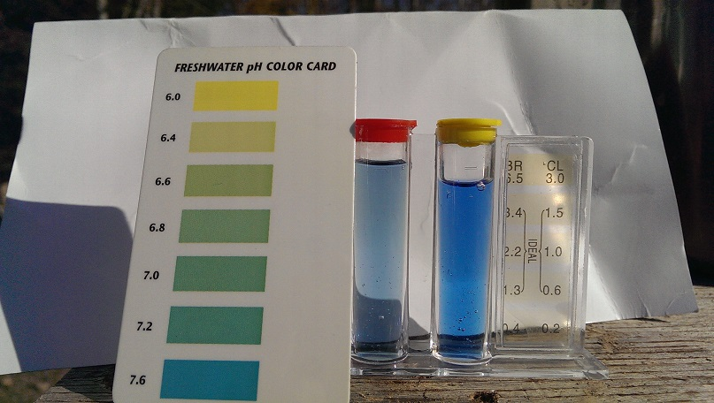 well water vs well water with lye ph